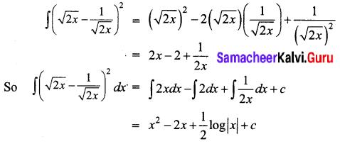 Samacheer Kalvi 12th Business Maths Solutions Chapter 2 Integral Calculus I Ex 2.2 Q1