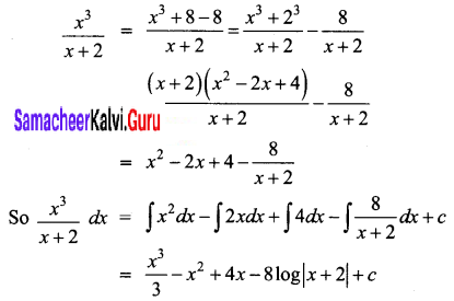 Samacheer Kalvi 12th Business Maths Solutions Chapter 2 Integral Calculus I Ex 2.2 Q3