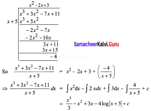 Samacheer Kalvi 12th Business Maths Solutions Chapter 2 Integral Calculus I Ex 2.2 Q4