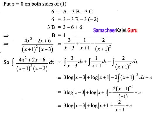 Samacheer Kalvi 12th Business Maths Solutions Chapter 2 Integral Calculus I Ex 2.2 Q6.1