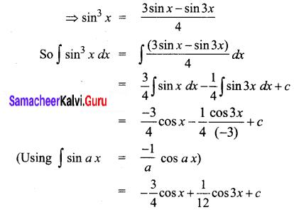 Samacheer Kalvi 12th Business Maths Solutions Chapter 2 Integral Calculus I Ex 2.4 Q2