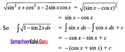 Samacheer Kalvi 12th Business Maths Solutions Chapter 2 Integral Calculus I Ex 2.4 Q5.1