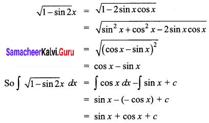 Samacheer Kalvi 12th Business Maths Solutions Chapter 2 Integral Calculus I Ex 2.4 Q5