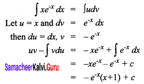 Samacheer Kalvi 12th Business Maths Solutions Chapter 2 Integral Calculus I Ex 2.5 Q1