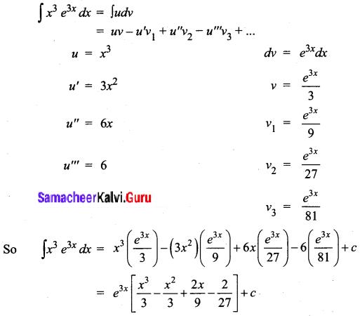 Samacheer Kalvi 12th Business Maths Solutions Chapter 2 Integral Calculus I Ex 2.5 Q2