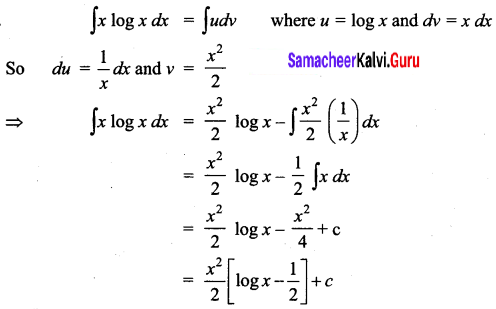 Samacheer Kalvi 12th Business Maths Solutions Chapter 2 Integral Calculus I Ex 2.5 Q4
