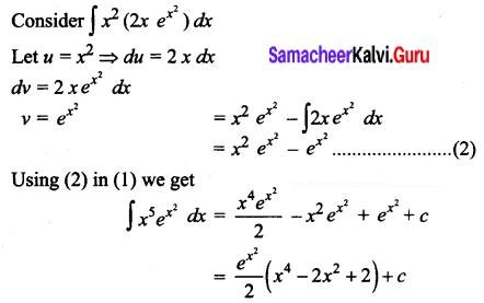 Samacheer Kalvi 12th Business Maths Solutions Chapter 2 Integral Calculus I Ex 2.5 Q6.1