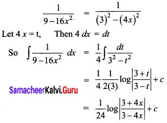 Samacheer Kalvi 12th Business Maths Solutions Chapter 2 Integral Calculus I Ex 2.7 Q1