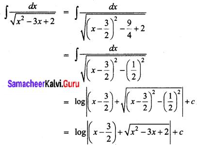 Samacheer Kalvi 12th Business Maths Solutions Chapter 2 Integral Calculus I Ex 2.7 Q10