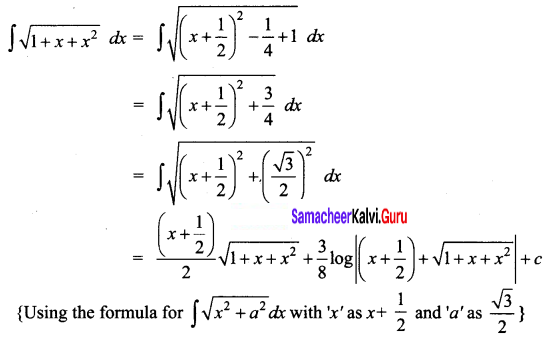 Samacheer Kalvi 12th Business Maths Solutions Chapter 2 Integral Calculus I Ex 2.7 Q12