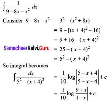 Samacheer Kalvi 12th Business Maths Solutions Chapter 2 Integral Calculus I Ex 2.7 Q2