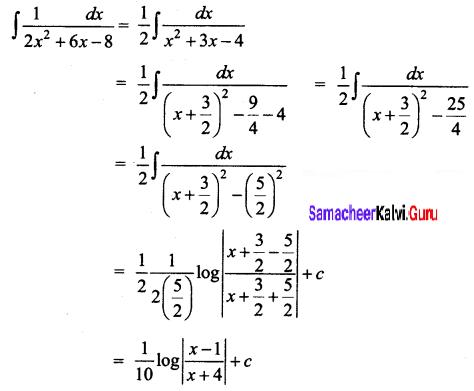 Samacheer Kalvi 12th Business Maths Solutions Chapter 2 Integral Calculus I Ex 2.7 Q6