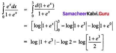 Samacheer Kalvi 12th Business Maths Solutions Chapter 2 Integral Calculus I Ex 2.8 I Q4