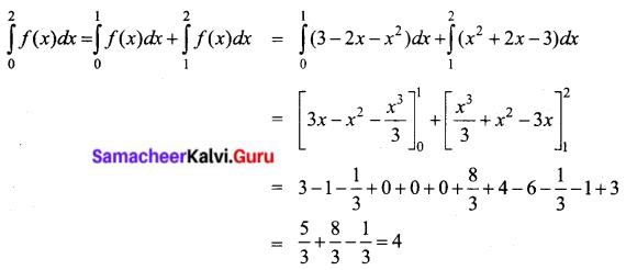 Samacheer Kalvi 12th Business Maths Solutions Chapter 2 Integral Calculus I Ex 2.8 II Q2.1