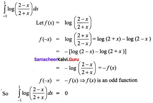 Samacheer Kalvi 12th Business Maths Solutions Chapter 2 Integral Calculus I Ex 2.9 Q3