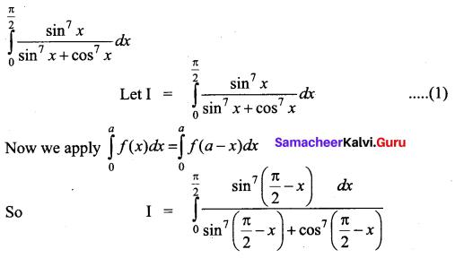 Samacheer Kalvi 12th Business Maths Solutions Chapter 2 Integral Calculus I Ex 2.9 Q4
