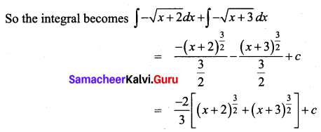 Samacheer Kalvi 12th Business Maths Solutions Chapter 2 Integral Calculus I Miscellaneous Problems Q1.1