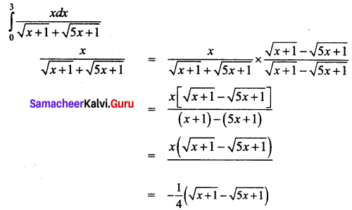 Samacheer Kalvi 12th Business Maths Solutions Chapter 2 Integral Calculus I Miscellaneous Problems Q10