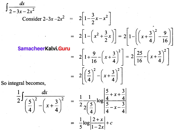 Samacheer Kalvi 12th Business Maths Solutions Chapter 2 Integral Calculus I Miscellaneous Problems Q2