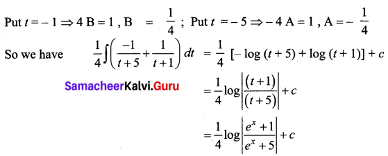 Samacheer Kalvi 12th Business Maths Solutions Chapter 2 Integral Calculus I Miscellaneous Problems Q3.1