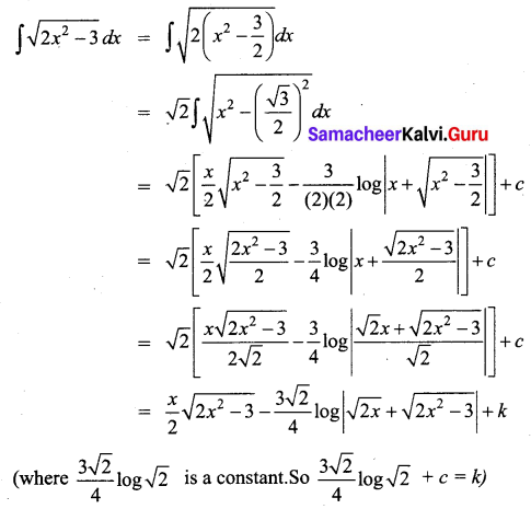 Samacheer Kalvi 12th Business Maths Solutions Chapter 2 Integral Calculus I Miscellaneous Problems Q4