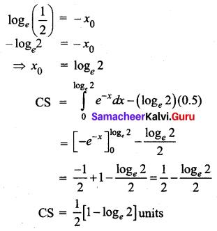 Samacheer Kalvi 12th Business Maths Solutions Chapter 3 Integral Calculus II Ex 3.3 Q4