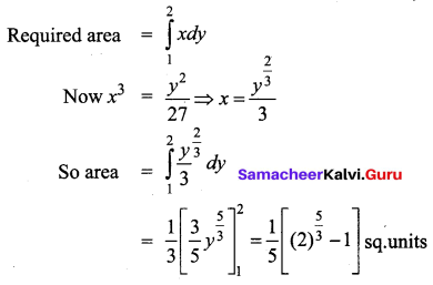 Samacheer Kalvi 12th Business Maths Solutions Chapter 3 Integral Calculus II Miscellaneous Problems Q10