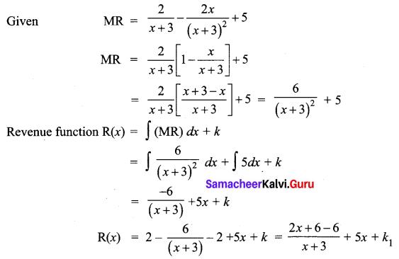 Samacheer Kalvi 12th Business Maths Solutions Chapter 3 Integral Calculus II Miscellaneous Problems Q3