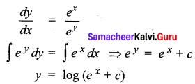 Samacheer Kalvi 12th Business Maths Solutions Chapter 4 Differential Equations Additional Problems I Q4