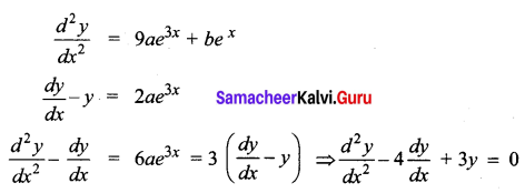 Samacheer Kalvi 12th Business Maths Solutions Chapter 4 Differential Equations Additional Problems II Q1