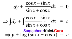 Samacheer Kalvi 12th Business Maths Solutions Chapter 4 Differential Equations Additional Problems II Q6