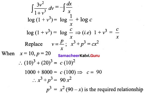 Samacheer Kalvi 12th Business Maths Solutions Chapter 4 Differential Equations Additional Problems III Q3.1