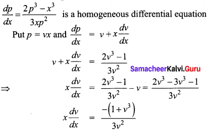 Samacheer Kalvi 12th Business Maths Solutions Chapter 4 Differential Equations Additional Problems III Q3
