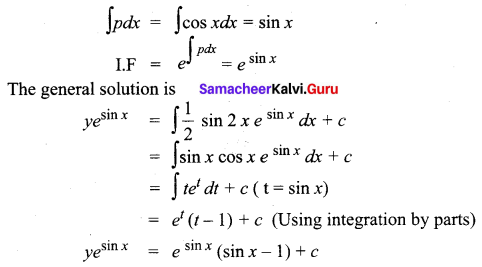 Samacheer Kalvi 12th Business Maths Solutions Chapter 4 Differential Equations Additional Problems III Q5