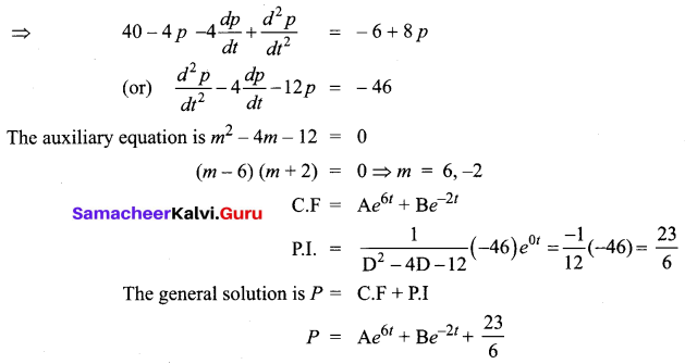 Samacheer Kalvi 12th Business Maths Solutions Chapter 4 Differential Equations Additional Problems III Q8