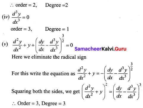 Samacheer Kalvi 12th Business Maths Solutions Chapter 4 Differential Equations Ex 4.1 Q1.2