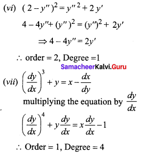 Samacheer Kalvi 12th Business Maths Solutions Chapter 4 Differential Equations Ex 4.1 Q1.3