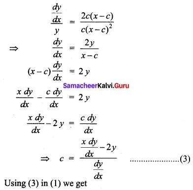 Samacheer Kalvi 12th Business Maths Solutions Chapter 4 Differential Equations Ex 4.1 Q2