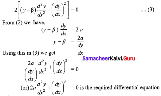 Samacheer Kalvi 12th Business Maths Solutions Chapter 4 Differential Equations Ex 4.1 Q5