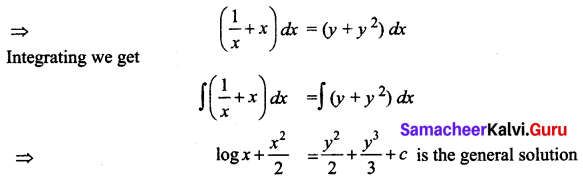 Samacheer Kalvi 12th Business Maths Solutions Chapter 4 Differential Equations Ex 4.2 Q1.1