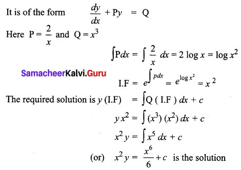 Samacheer Kalvi 12th Business Maths Solutions Chapter 4 Differential Equations Ex 4.4 Q3