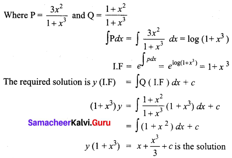 Samacheer Kalvi 12th Business Maths Solutions Chapter 4 Differential Equations Ex 4.4 Q4