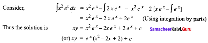 Samacheer Kalvi 12th Business Maths Solutions Chapter 4 Differential Equations Ex 4.4 Q5.1