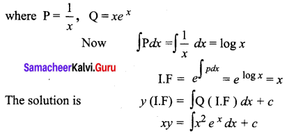 Samacheer Kalvi 12th Business Maths Solutions Chapter 4 Differential Equations Ex 4.4 Q5