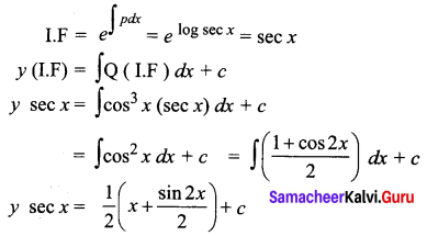 Samacheer Kalvi 12th Business Maths Solutions Chapter 4 Differential Equations Ex 4.4 Q6
