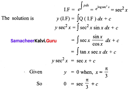 Samacheer Kalvi 12th Business Maths Solutions Chapter 4 Differential Equations Ex 4.4 Q7