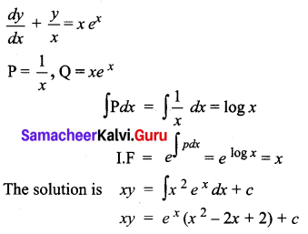 Samacheer Kalvi 12th Business Maths Solutions Chapter 4 Differential Equations Ex 4.4 Q8