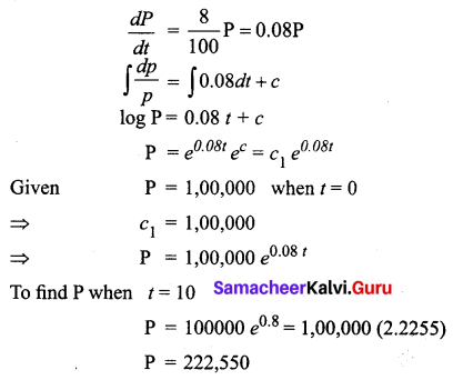 Samacheer Kalvi 12th Business Maths Solutions Chapter 4 Differential Equations Ex 4.4 Q9