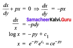 Samacheer Kalvi 12th Business Maths Solutions Chapter 4 Differential Equations Ex 4.6 Q11