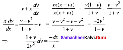 Samacheer Kalvi 12th Business Maths Solutions Chapter 4 Differential Equations Ex 4.6 Q23.1